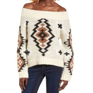 Anthropologie | Moon River Aztec Cozy Warm Sweater